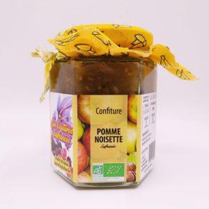 confiture artisanale bio pomme-noisette safranée
